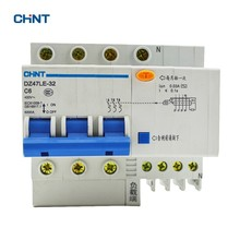 цена на CHNT Mini Circuit Breaker 6A Household Air Switch Earth Leakage Circuit Breaker DZ47LE-32 3P+N C6