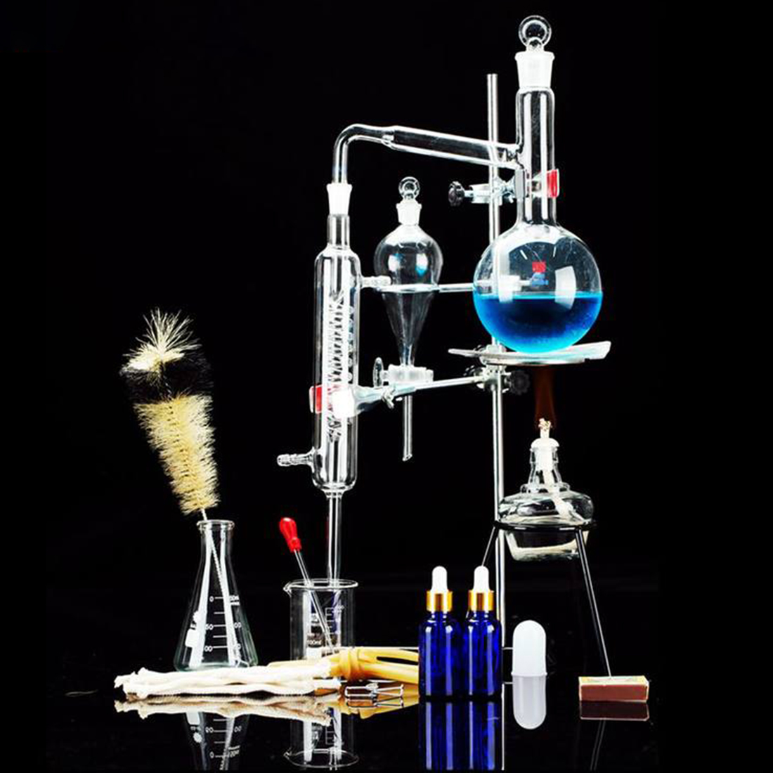 Distiller Limbeck Glass Distilled Water Device Chemical Teaching Instrument for Laboratory kids children educational science toyDistiller Limbeck Glass Distilled Water Device Chemical Teaching Instrument for Laboratory kids children educational science toy