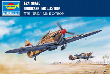 US Stock Trumpeter 02416 1/24 Hawker Hurricane Mk.IIC/Trop Fighter Aircraft Model Kit TH05723-SMT2 image