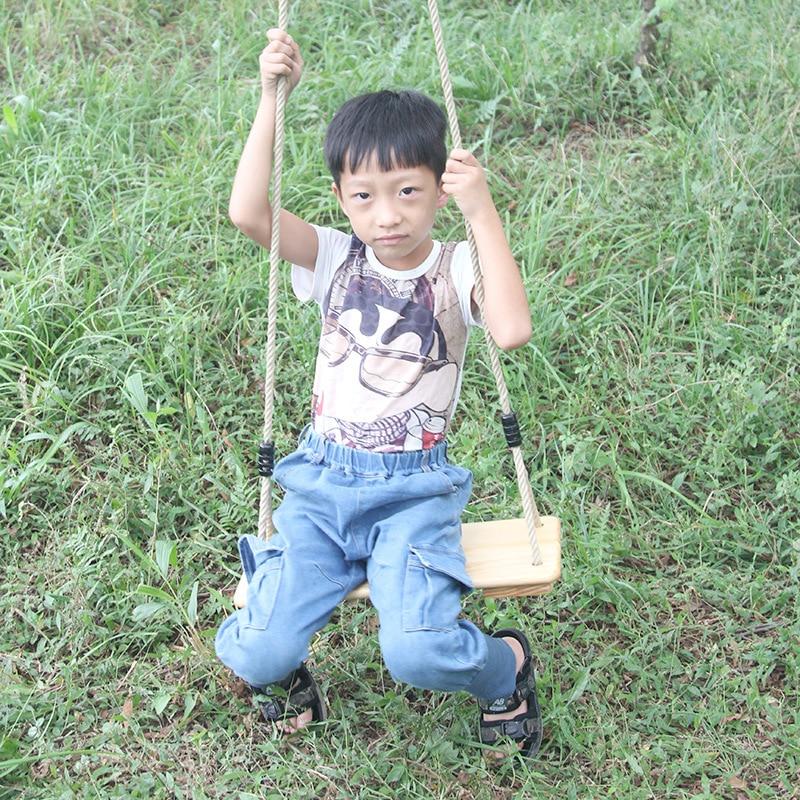 Enfants d'intérieur jouet balançoire en bois aire de jeux extérieure arrière-cour chaise suspendue sécurité bébé suspendu hommaquette paresseux Patio balançoire siège HW21