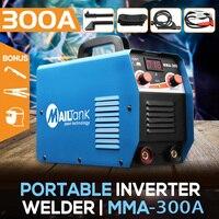 MMA 300G мини сварщики сварочный аппарат постоянного тока 220 В 25A 300A полуавтоматический инвертор ЖК паяльник для железа/углеродистой стали