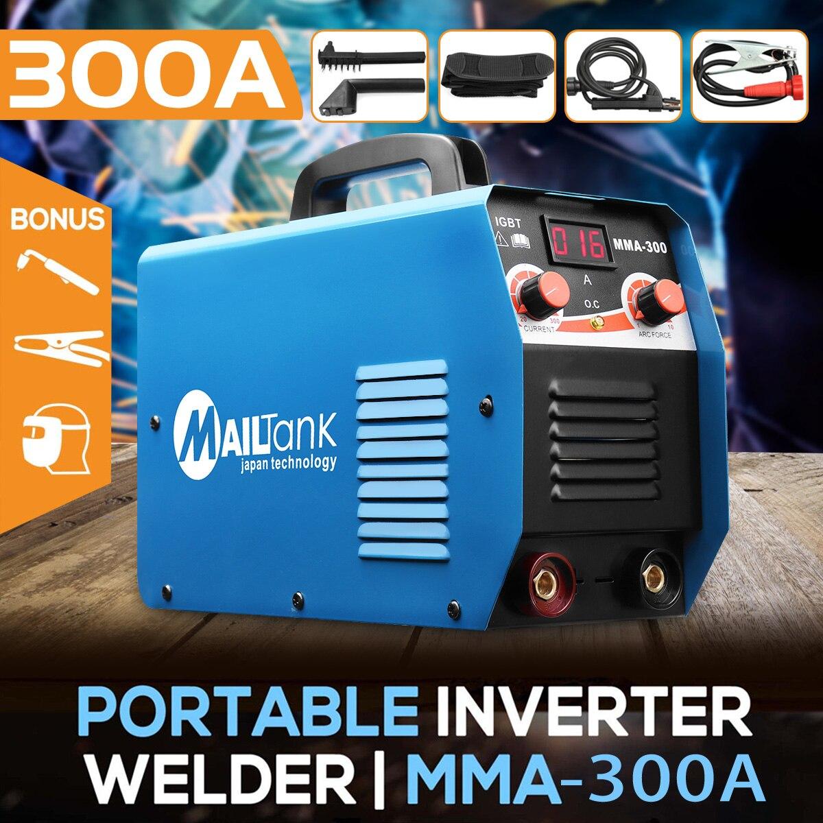 MMA-300G Mini Soudeurs DC poste à souder 220 V 25A-300A Semi-Automatique Onduleur LCD À Souder Outil de Fer/En Acier Au Carbone
