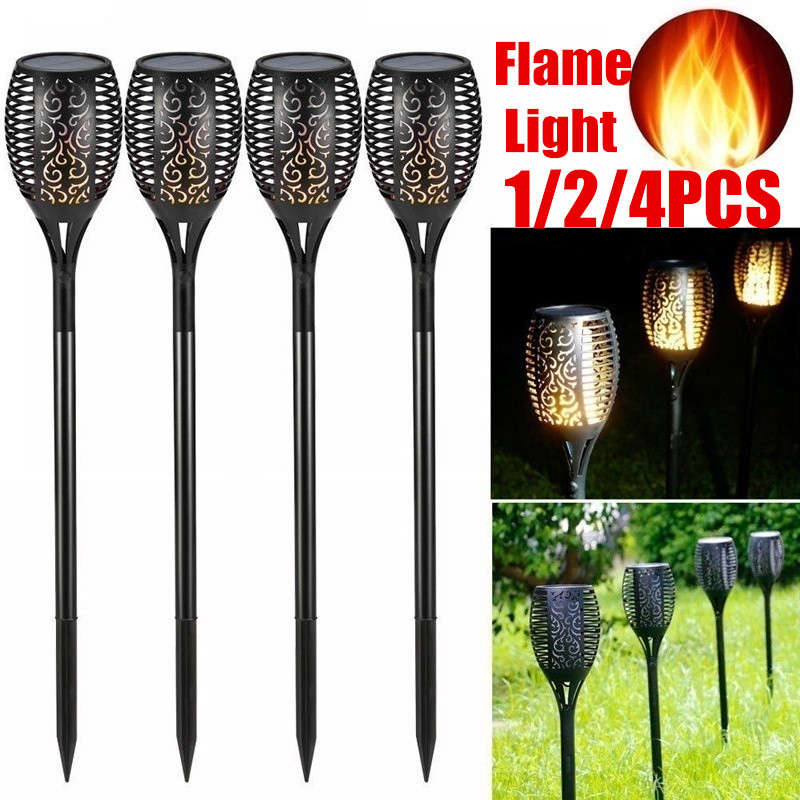Hot!!! Solar Torch Light Flickering Lawn Lamp Led Dancing Flame Lighting Waterproof For Outdoor Garden Decor New Year Christmas