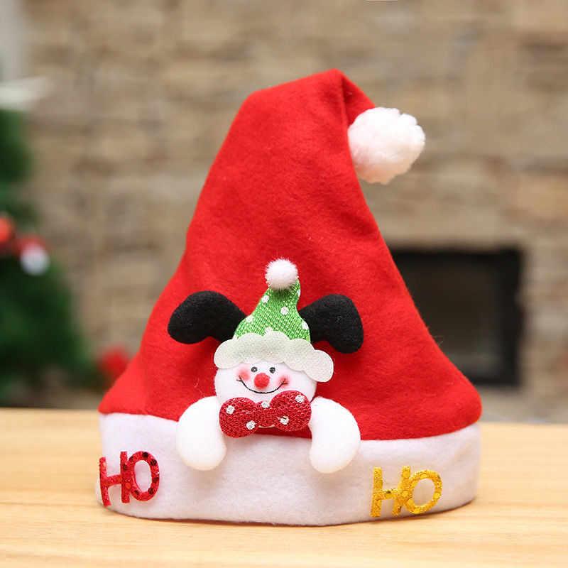 Bebé niños niñas cálido sombrero Navidad Santa Claus dibujos animados ciervo gorra niños sombrero recién nacido fotografía niñas niño invierno para niños regalo