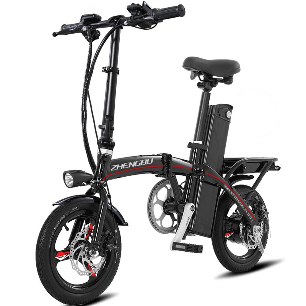 Nouveau vélo électrique pliant petite femme performance une batterie voiture mini lithium électrique adulte voiture ZXC06