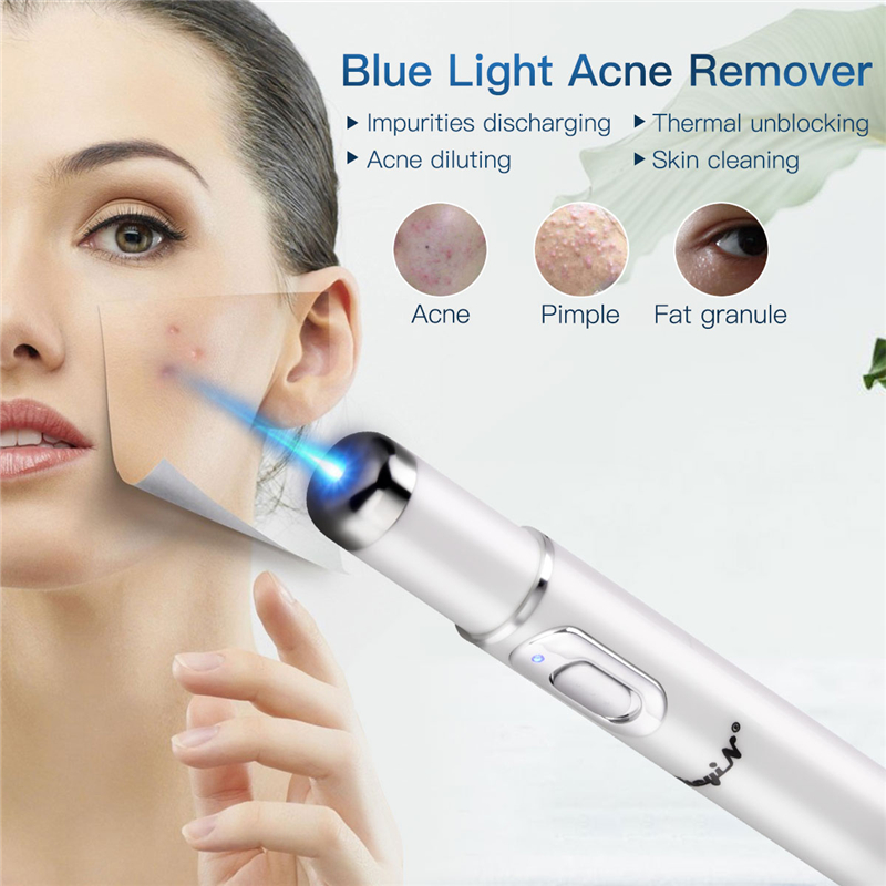 Electric Blue Light Acne Remover Spot Fading Skin Regeneration Beauty Bar Battery Operated Eye Massage Roller Skin Tighten WandElectric Blue Light Acne Remover Spot Fading Skin Regeneration Beauty Bar Battery Operated Eye Massage Roller Skin Tighten Wand