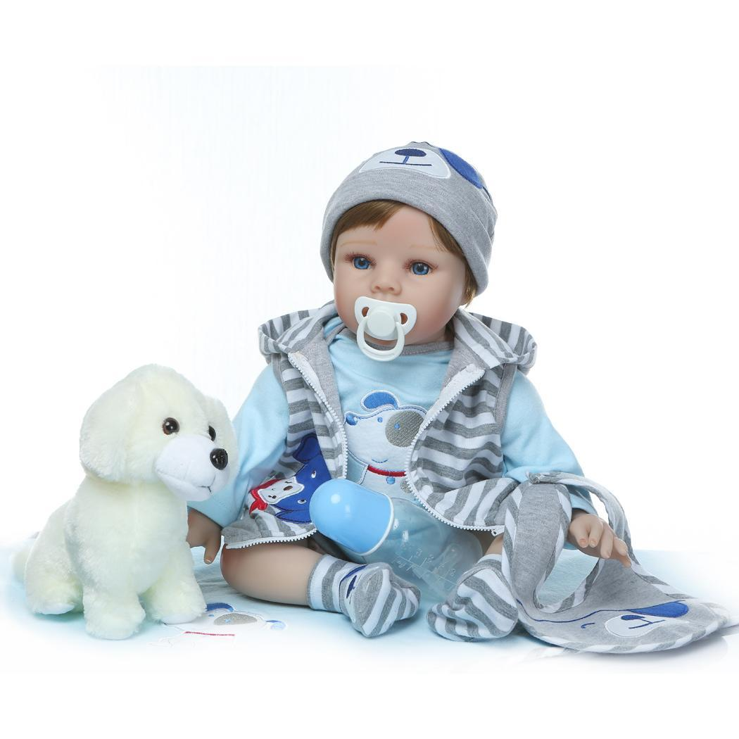 Kids Soft Silicone Realistic With Clothes Opened Eyes Reborn Collectibles, Gift, Playmate Baby 2-4Years DollKids Soft Silicone Realistic With Clothes Opened Eyes Reborn Collectibles, Gift, Playmate Baby 2-4Years Doll