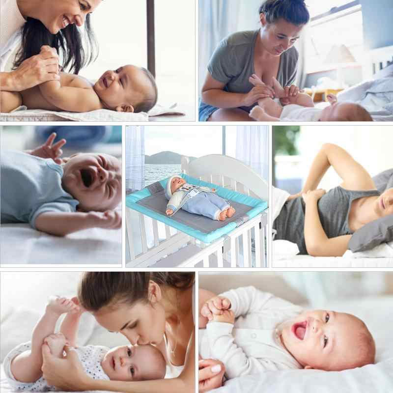 Baby Bed Wooden Bed Safety Diaper Table Newborn Diaper Changing Table Safe Belt Infant Diaper Care Table Comfortable Table