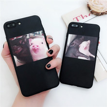 Ottwn Soft Silicon Cover For iPhone 6 7 8 Plus X XR XS Max Cartoon Pig Love Cases 6S Back Coque