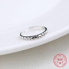 Preço de fábrica 100% 925 anel de prata tailandês moda concisa delicada s abrir anel jóias finas para o sexo feminino