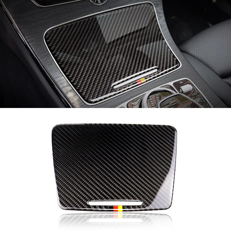 Image 2 - For Mercedes Benz C Class W205 C180 C200 C300 GLC260 Carbon Fiber Car Water Cup Holder Panel Cover-in Interior Mouldings from Automobiles & Motorcycles