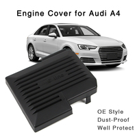 S-line Black Engine Protective Battery Cover For Audi A4 B9 8W A5 2017 2018 OE Style Protector Hood Exterior