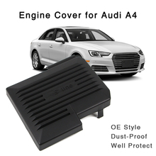 S-line Black Engine Protective Cover For Audi A4 B9 8W A5 2017 2018 OE Style Protector Hood Exterior