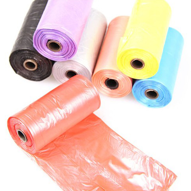 1 Roll Biodegradable Dog Poo Bag Pet Cat Waste Poop Clean Pick Up Garbage Bag 2