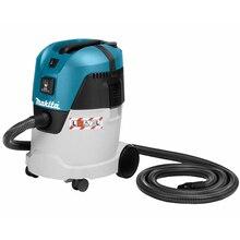 Пылесос для сухой и влажной уборки Makita VC2512L (Мощность 1000 Вт, вместимость пылесборника 25 л, длина шланга 3,5 м, HEPA фильтр, функция сбора жидкости, функция подключения электроинструмента)