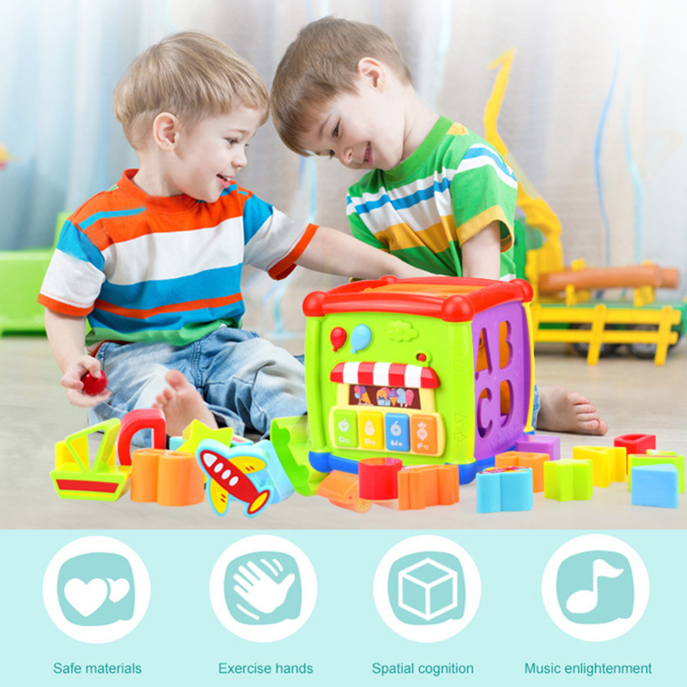 Baby Child Early Education Multi-pattern Soft Building Blocks Cubic Plush Toys
