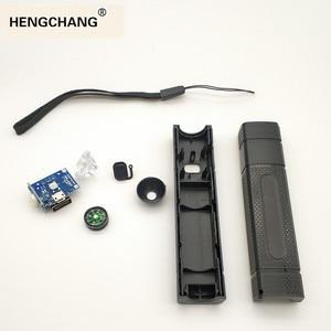 Image 5 - 전원 은행 DIY 1 18650 배터리 케이스 LED 손전등 나침반 USB 충전기 스마트 전화 USB 가제트