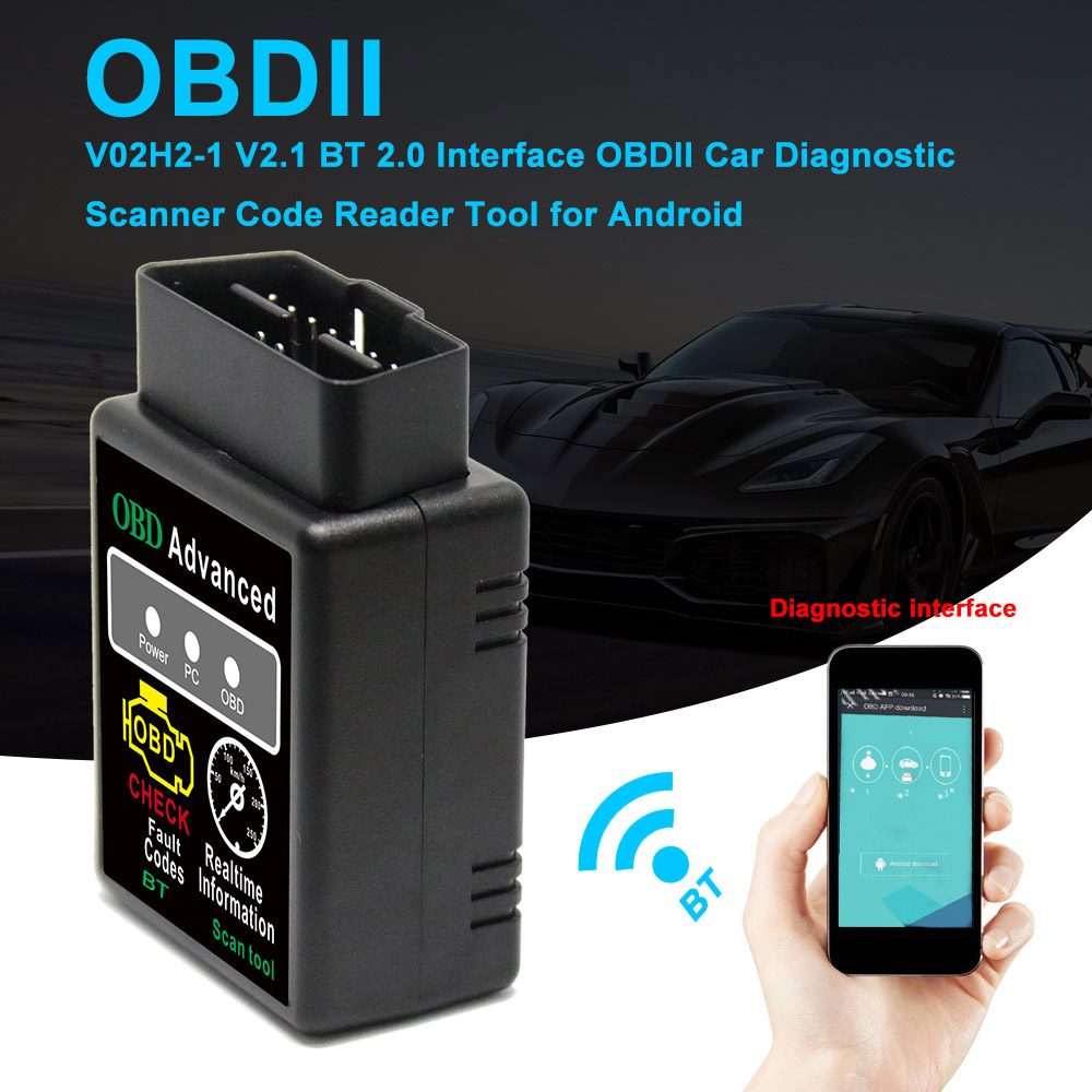KKMOON mini OBD ELM327 Bluetooth OBD2 OBDII CAN BUS Check Engine Car Auto Diagnostic Scanner Tool Interface Adapter For Android