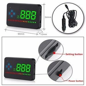 Image 4 - OHANEE A2 HUD 3.5 cala GPS wyświetlacz do samochodu alarm prędkości kompas szyby projektor prędkościomierz HUD przez satelity GPS