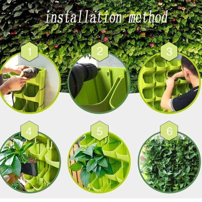 الجدار الشنق وعاء زارع أوعية تكويم الجدار العمودي العصارة وعاء النبات بونساي الأخضر ديكور المنزل الساخن