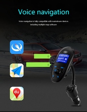 FM Transmitter Bluetooth Car Kit MP3 Player LCD 3USB 4.2A Charger Voltage Display Micro SD TF Music Playing