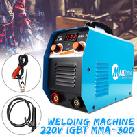 300 AMP Compact Electrode Inverter Welding Machine With LCD Digital Ampermeter 220V