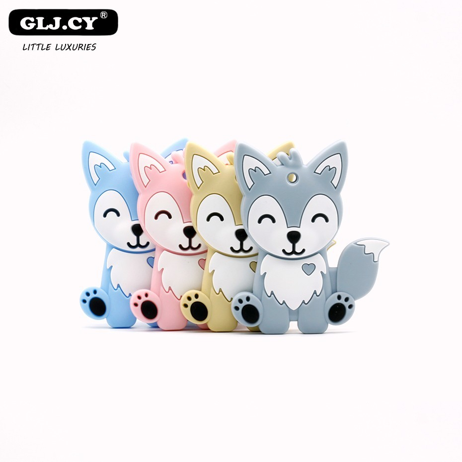 Hot Lovely Animal Cartoon Natural Wooden Teether BraceletBaby Chewing Bead Gum