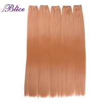 Blice 5PCS 30inch High Temperature Synthetic Hair Weaving In #350 Straigt Hair Bundles Long Hair Extensions 100g/Piece