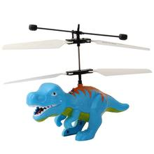 Flying Helicopter Dinosaurs Toys for Boys Kids Mini Remote Control Luminous Suspend Inductive Dinosaurs for Kid's Christmas Gift