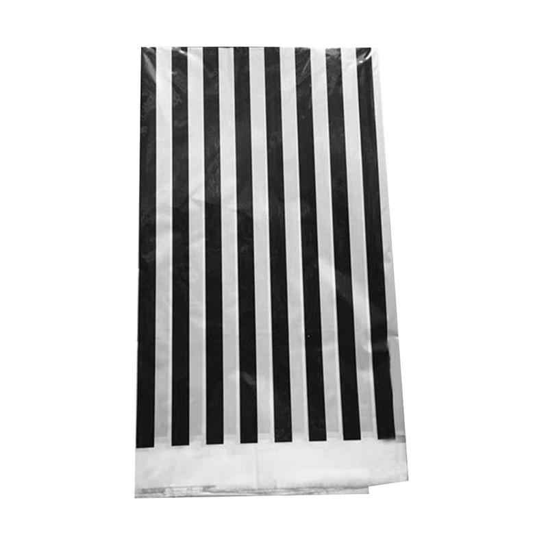 Plastic Black and White Stripe Print Tablecloths Party Picnic Table Covers