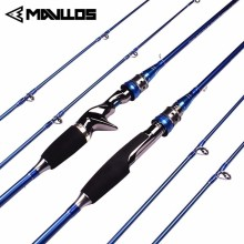 Mavllos M/MH 2 Tips Carbon Fishing Rod Spinning Casting 1.8m 2.1m Lure Weight 3-20g Fast Action Saltwater Section