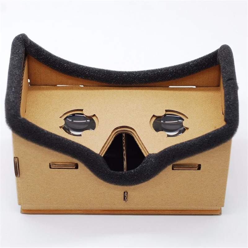 Virtual Reality Google Cardboard Experience VR 3D Glasses Box Movies 7 SmartPhones Universal Headset