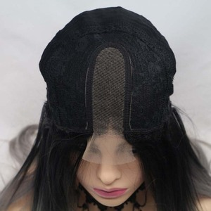 Image 5 - Сильвия коричневый красный парик Длинные Яки прямые волосы U часть кружева парик синтетический парик шнурка 180% Плотность термостойкие волокна волос парики