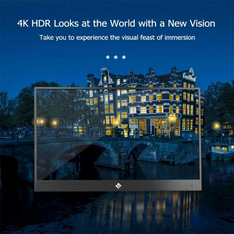 15.6 pouces 4 K Portable moniteur de jeu HDR HD 3840X2160 IPS type-c écran d'affichage pour PS4 PS4 PRO XBOX NS 178 degrés avec haut-parleur
