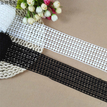 Wide 6cm African Tulle Lace Fabric Embroidered Trim Ribbon Collar Applique DIY Garment Dress Clothes Curtain For Sewing Supply