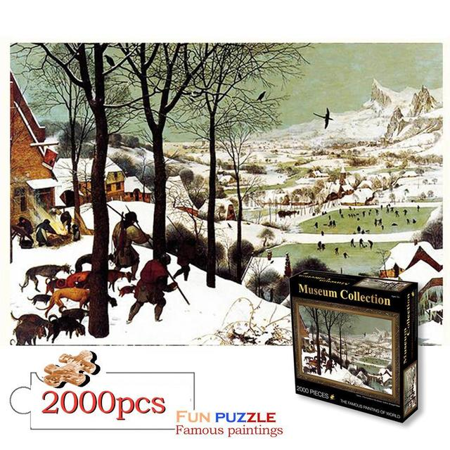 100x70CM Puzzle Puzzle 2000 Pieces World Master Famous Painting Wooden Paper Puzzle Personalized Jigsaw Creativity Imagine