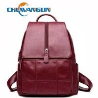 Chuwanglin Vintage women leather backpacks fashion Wild school bag mochila feminina travel bags casual backpack woman A89201