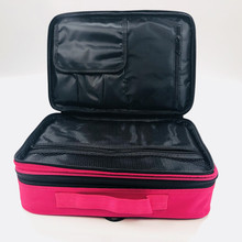 Women Professional Makeup Organizer Large Capacity Storage Case Oxford Travel Cosmetic Bag Casual Disassembly Suitcase super large professional makeup bag wedding cosmetic case large capacity travel suitcase for make up waterproof organizer box