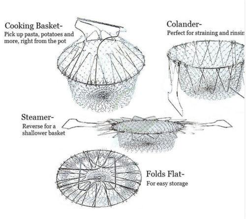 Filet de cuisson pliable à la vapeur, outil de cuisine 1