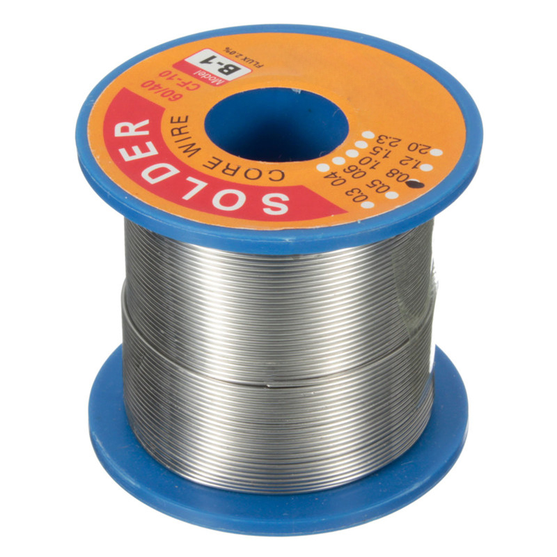 250g <font><b>60</b></font>/<font><b>40</b></font> 0.8 mm Tin Lead Soldering Wire Reel <font><b>Solder</b></font> Rosin Core For Circuit Board Electronics Devices Durable image