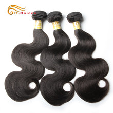 Onicca Hair Indian Body Wave Bundles 100% Human Hair Bundles Deal Can Buy 1/3/4 Bundles Double Weft Non Remy Hair Extension(China)