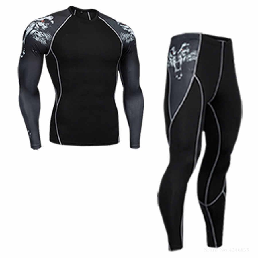 Ski Unterwäsche Set> herren Winter Thermische Unterwäsche> Lauf Strumpfhosen anzug> Druck Thermische Unterwäsche Workout Kleidung 4XL