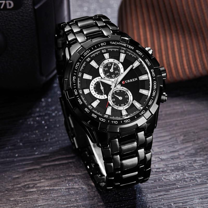 CURREN 8023 Männer Uhren Top-marke Luxus Männer Military Armbanduhren Voller Edelstahl Sport Männer Uhr Relogio Militär Handgelenk