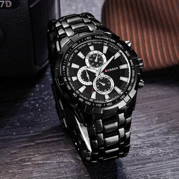 CURREN 8023 Men Watches Top Brand Luxury Military Wrist Full Stainless Steel Sports Watch Relogio