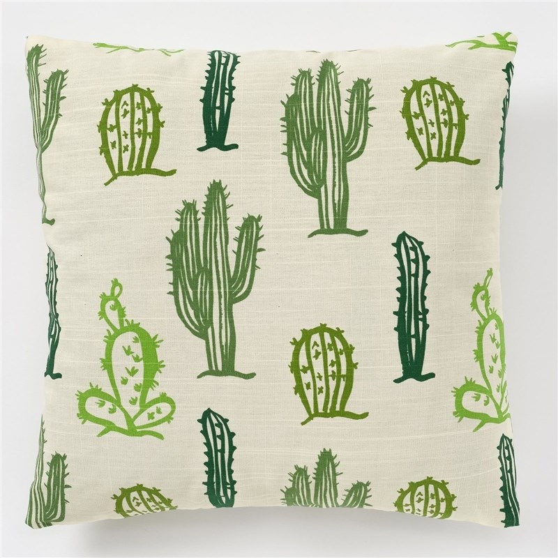 Decorative pillow case Ethel Cacti, 45x45 cm, репс, pl. 130g/m², 100% cotton decorative pillow case ethel triangles 45x45 cm репс pl 130g m² 100% cotton