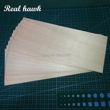 10pcs/lot 250x100x0.75/1/1.5/2/2.5/3/4/5mm AAA+ Model Balsa wood sheets for DIY RC model wooden plane boat material