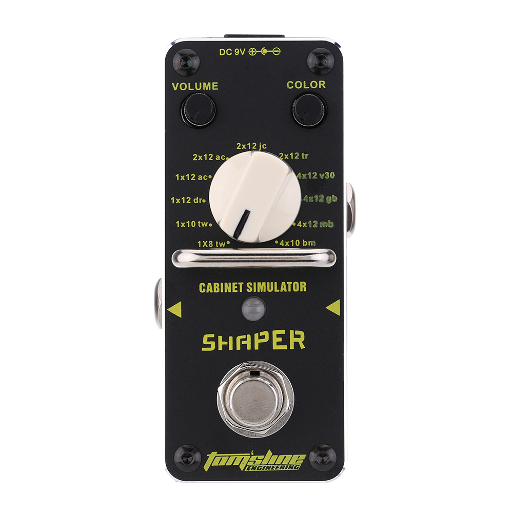 AROMA ASR 3 Shaper Cabinet Simulator Mini Single Electric Guitar Effect Pedal with True Bypass