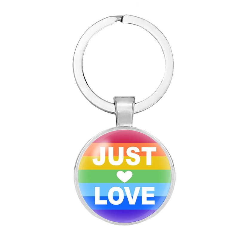 SZ Gökkuşağı gay pride Anahtarlık Anahtar Lgbt pride lezbiyen hediye kolye Anahtarlık Yüzük Chaveiro Hediyelik Eşya Llaveros takı