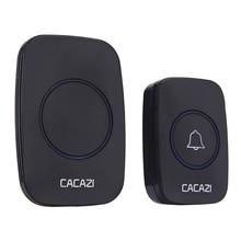 цена на Waterproof Home Wireless Doorbell Smart LED Light Calling Bell Remote Control Button Music Digital Door Bell US EU Plug