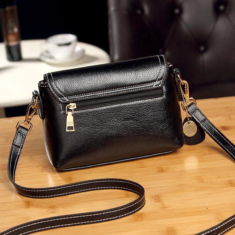 WEIXIER Fashion Women Genuine Leather Small Flap Shoulder Bags Brand Designer Female Evening Party Clutch Bags NS-56 5